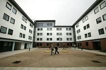 Waterside court student accommodation. The University of Bath. - Paul Box - 2000s,2004,accommodation,built,court,EDU Education,flats,halls,Higher Education,housing,LFL Lifestyle leisure,modern,of,purpose,residence,student,STUDENTS,university