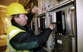Electricians working onsite. - Paul Box - 01-11-2004