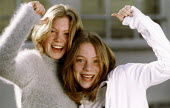 Teenage girls celebrate and cheer. - Paul Box - 2000s,2004,adolescence,adolescent,adolescents,celebrate,CELEBRATING,celebration,CELEBRATIONS,cheer,EDU Education,EMOTION,EMOTIONAL,EMOTIONS,female,females,GIRL,girls,HAPPINESS,happy,people,person,pers