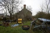 A run down farm in North Wales - Paul Box - ,2000s,2005,abandoned,AGRICULTURAL,agriculture,AUTO,AUTOMOBILE,AUTOMOBILES,AUTOMOTIVE,building,buildings,capitalism,capitalist,car,cars,derelict,DERELICTION,dilapidated,down,dumped,EBF Economy,EQUALIT
