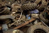 A pile of scrap metal at Scrap yard in North wales - Paul Box - 20-03-2005