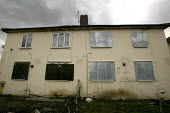 Council Houses in Filton, Bristol. They were built in the 1950s and are suffering from concrete decay due to Alkali Silica reaction. They are being demolished and the residents re housed. - Paul Box - 24-03-2005