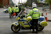 Police motorbike riders at a gas leak incident in bristol. - Paul Box - 25-04-2005