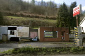 Derelict petrol station in an area of rural poverty in south west Wales - Paul Box - 20-04-2005