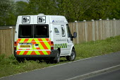 Police speed camera unit at work in the midlands - Paul Box - 2000s,2005,adult,adults,AUTO,AUTOMOBILE,AUTOMOBILES,AUTOMOTIVE,beam,camera,cameras,car,cars,CLJ crime law justice,fine,highway,laser,limit,MATURE,mobile,partnership,people,police,policing,restriction,