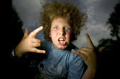 A teenager pulls a silly face - Paul Box - 20-04-2005