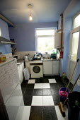 A student kitchen, Swansea. - Paul Box - 2000s,2004,accommodation,digs,EDU Education,halls,housing,kitchen,KITCHENS,LFL Lifestyle leisure,life,male,poor,rented,room,ROOMS,student,STUDENTS