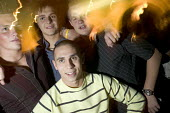 A group of lads on a night out in a bar in Swansea - Paul Box - 18-03-2005
