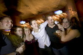 A group of students on a night out in a bar in Swansea - Paul Box - 18-03-2005