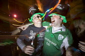 Celebrating St Patricks day in a bar in Swansea - Paul Box - 18-03-2005