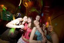 Girls drinking in a bar in Swansea - Paul Box - 18-03-2005