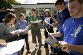 Clevedon school, pupils getting their GCSE results. Students look at their exam results. - Paul Box - 25-08-2005