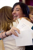 Clevedon school, pupils celebrate getting their GCSE results. - Paul Box - 25-08-2005