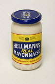 A jar of Helmann's mayonaise - Paul Box - 2000s,2005,EBF Economy,egg,food,FOODS,glass,jar,mayonnaise,product,sauce