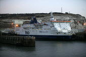 Dover docks. Ferry terminal. P&O ferry leaves for Boulogne. - Paul Box - 05-12-2005
