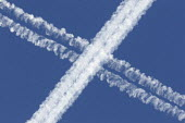 Vapour trails from airplanes in the sky. - Paul Box - 05-12-2005