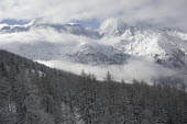 Snow covered mountains, Sainte Foy nr Tignes and Val Diser in the French alps. - Paul Box - 05-12-2005
