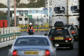 Cars leave the ferry at The Port of Dover. - Paul Box - 05-12-2005