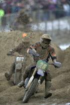 Motorbikers take part in the Weston Super Mare beach race. - Paul Box - 05-12-2005