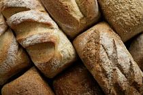 Freshly baked bread at Hobbs house bakery, nr Bristol. - Paul Box - 05-12-2005