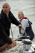 Charter yacht sailing, Cowes week, Isle of Wight - Paul Box - 05-12-2005