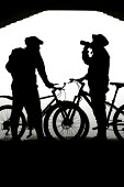 Mountain bikers seek shelter and rehydrate. - Paul Box - 05-12-2005