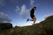 A runner on a cliff path. - Paul Box - 05-12-2005