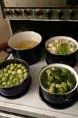 Vegetables being boiled on an electric cooker. - Paul Box - 05-12-2005