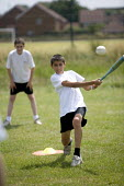 Hanham high school. Pupils playing softball. - Paul Box - 06-12-2005