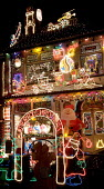 A house in Bristol covered in christmas lights. - Paul Box - 20-12-2005