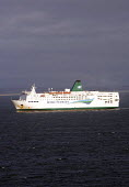 Irish Ferries ferry arrives at Rosslare harbour in Ireland. - Paul Box - 20-12-2005