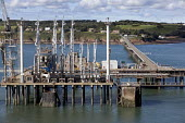 Oil pipelines in the Milford estuary, Milford Haven , Pembrokeshire. - Paul Box - 20-12-2005