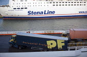 Stena Line ferry, Rosslare in Ireland. - Paul Box - 2000s,2005,AUTO,AUTOMOBILE,AUTOMOBILES,AUTOMOTIVE,boat,boats,calm,capitalism,capitalist,car,cargo,CARS,container,containers,depot,DEPOTS,distributing,distribution,early morning,EBF Economy,eu,europe,e
