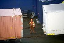 Irish Ferries ferry in Rosslare harbour, Ireland. - Paul Box - 2000s,2005,boat,boats,capitalism,capitalist,cargo,container,containers,crew,crewman,crewmen,crewmenmaritime,depot,DEPOTS,distributing,distribution,DOCK WORKER,DOCK WORKERS,docker,dockers,dockworker,do