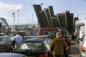 Cars and their drivers queue for the Irish ferry from Pembroke to Rosslare in Ireland. - Paul Box - 20-12-2005