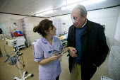 Bridgnorth Hospital, a community hospital.A nurse discharges a patient. The hospital faces closure as the Shropshire County Primary Care Trust needs to make cuts. - Paul Box - 07-01-2006