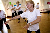 A group of oaps take part in a keep fit class. - Paul Box - 01-04-2006