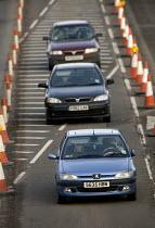 M5 , motorway , teraffic queue on the access roads during the roadworks. - Paul Box - 01-04-2006