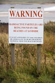 Sandside beach, Scotland. The beach is tested for radioactivity as it has been contaminated by nearby Dounreay nuclear power station. There have been radioactive leaks at the nuclear power station and... - Paul Box - 01-04-2006