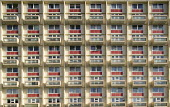 Inner city flats, Bristol. - Paul Box - 2000s,2006,accommodation,block,blocks,cities,city,cityscape,cityscapes,council,Council Services,Council Services,EBF Economy,flats,High Rise,homogeneous,housing,local authority,outdoors,outside,poor,p