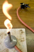 A bunsen burner in a chemistry laboratory - Paul Box - 10-06-2006