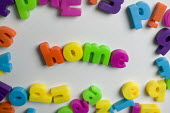 Welcome home spelt out in magnetic alphabetical fridge magnets. - Paul Box - 10-06-2006