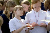 A compass being used for orienteering , Clevedon community school. - Paul Box - 10-05-2006