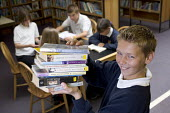 Pupils in the library at Clevedon community school - Paul Box - 10-05-2006
