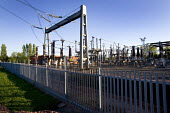 Gloucester, The Walham substation that nearly flooded in the recent floods. Temporary water defences have now been installed. Hundreds of thousands of homes would have been without electricity if this... - Paul Box - 29-07-2007