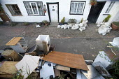 Tewkesbury, homeowners clear out their damaged property after the flood waters have receded. - Paul Box - 29-07-2007