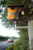 A vandalised speed camera. - Paul Box - 2000s,2007,anti social behavior,anti social behaviour,anti socialanti social behavior,antisocial,antisocial behaviour,antisocialvandalise,antisocialvandalize,AUTO,AUTOMOBILE,AUTOMOBILES,AUTOMOTIVE,beh