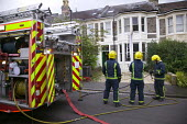 A house fire in Bristol. The fire was started by lights growing marijuana. - Paul Box - 30-08-2007