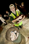A theatre production called 'Refuse' about young people, sex and relationships . The play is about a refuse collection worker who finds an abandoned baby in a rubbish bin. Performed at the Melville th... - Paul Box - 16-10-2005