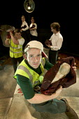 A theatre production called Refuse about young people, sex and relationships . The play is about a refuse collection worker who finds an abandoned baby in a rubbish bin. Performed at the Melville thea... - Paul Box - 16-10-2005